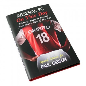 Personalised On This Day Book - Arsenal