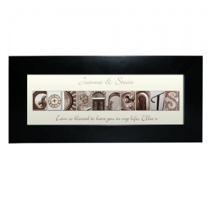 Affection Art Frame - Godparents