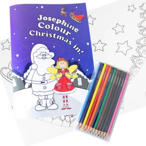 Personalised Colouring Set - 'It's Christmas' Fairy