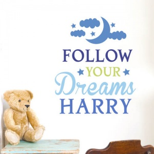 Follow Your Dreams Blue Wall Art