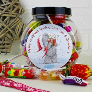 Personalised Tatty Teddy Me To You Christmas Sweet Jar