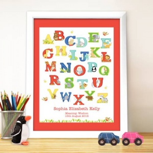 White Poster Frame - Animal Alphabet
