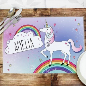 Personalised Placemat - Unicorn