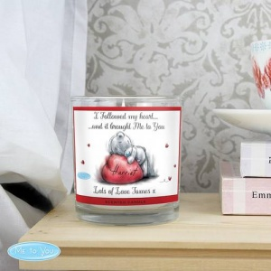 Personalised Me To You Scented Jar Candle - Heart