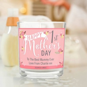 Personalised Scented Jar Candle - Floral Bouquet 1st Mother's Day