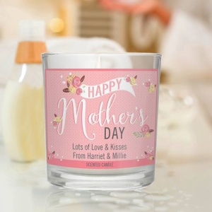 Personalised Scented Jar Candle -  Floral Bouquet Mother's Day