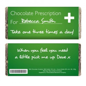 Personalised Milk Chocolate Bar - Prescription