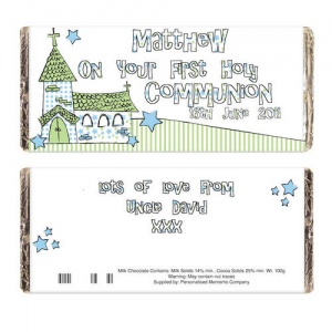 Whimsical Church Chocolate Bar - 1st Holy Communion