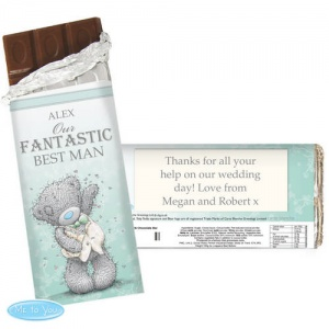 'Tatty Teddy' Me To You Male Wedding Chocolate Bar