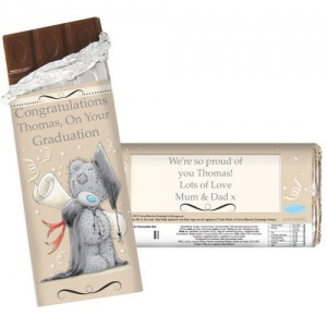 Personalised Milk Chocolate Bar - Me to You Graduation
