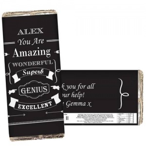 Vintage Typography Chocolate Bar
