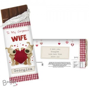 Personalised Boofle Chocolate Bar - Shared Heart