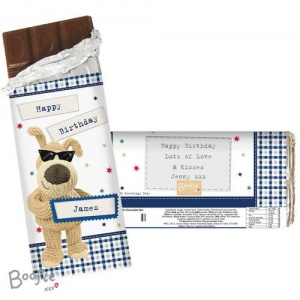 Personalised Boofle Chocolate Bar - Stars