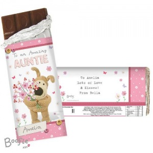 Personalised Boofle Chocolate Bar - Flowers