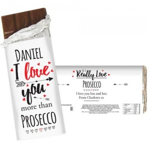 Personalised Milk Chocolate Bar - I Love You More Than...