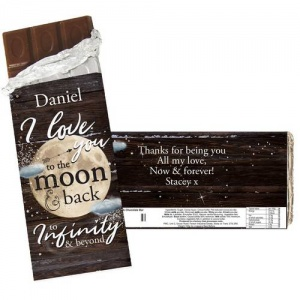 Personalised Chocolate Bar - To the Moon & Infinity...