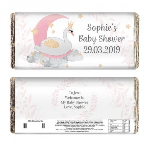 Personalised Milk Chocolate Bar - Swan Lake
