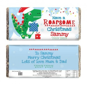 Personalised Milk Chocolate Bar -  Have a Roarsome Christmas