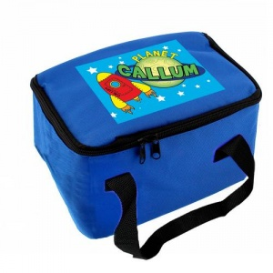 Personalised Blue Lunch Bag - Space