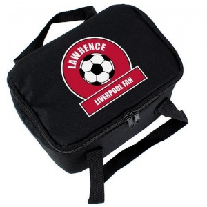 Personalised Lunch Bag - Red Football Fan