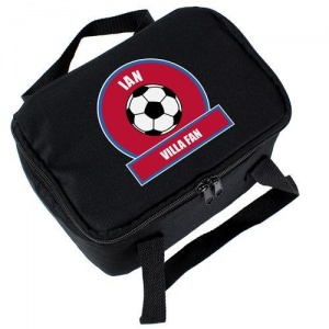Personalised Lunch Bag - Claret & Blue Football Fan