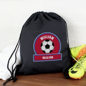 Personalised Swim/Kit Bag - Claret & Blue Football Fan