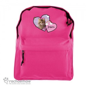 Personalised Rachael Hale Pink Backpack - Cute Cat