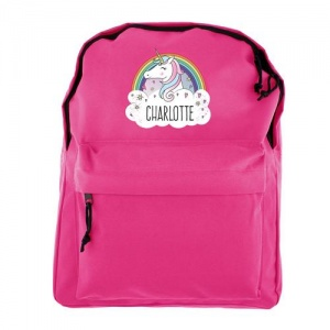 Personalised Pink Backpack - Unicorn