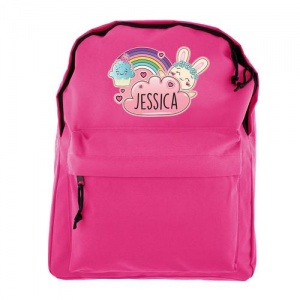 Personalised Pink Backpack - Bunny