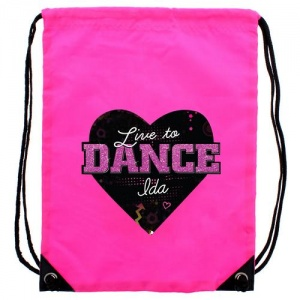 Personalised Pink Kit Bag - Live to Dance