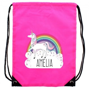 Personalised Pink Kit Bag - Unicorn