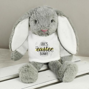 Personalised Bunny Rabbit In T-Shirt - Easter