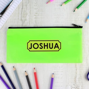 Personalised Pencil Case - Bright Green