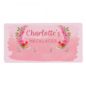 Personalised Floral Watercolour Jewellery Hooks