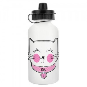 Personalised Drinks Bottle - Cat Face