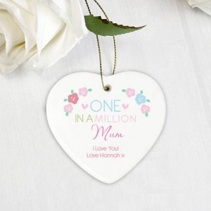 Personalised Ceramic Heart - One in a Million