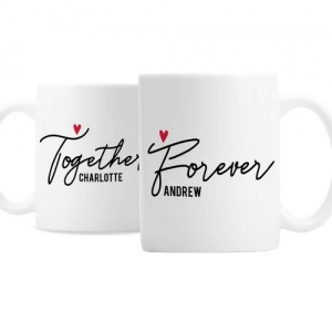 Personalised Ceramic Mug Set - Together Forever