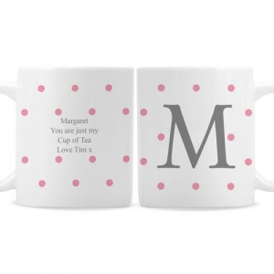 Personalised Mug - Monogram Gold Spot