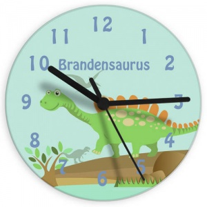 Dinosaur Glass Clock