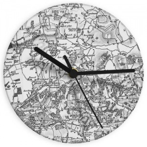 Old Series 1805 - 1874 Map Glass Clock