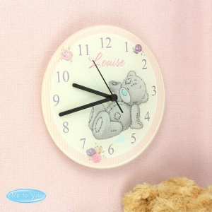 Personalised Tatty Teddy Me To You Glass Clock