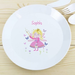 Personalised Plastic Plate - Garden Fairy