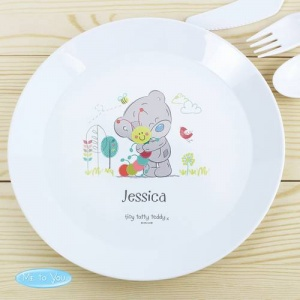 Personalised Tiny Tatty Teddy Plastic Plate - Cuddle Bug