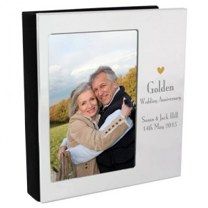Personalised Decorative Photo Frame Album 6x4 - Golden Anniversary