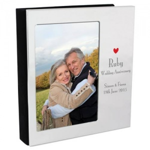 Personalised Decorative Photo Album 6x4-Ruby Anniversary
