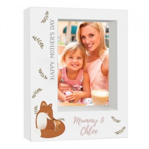 Personalised 5x7 Box Photo Frame - Mummy & Me Fox
