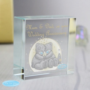 Personalised Tatty Teddy Crystal Token -  Gold Stars
