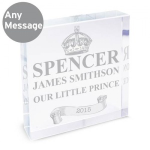 Personalised Crystal Token - Royal Crown