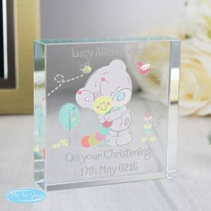 Personalised Tiny Tatty Teddy Crystal Token -  Cuddle Bug