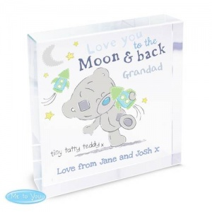 Personalised  Me To You Crystal Token - Moon & Back